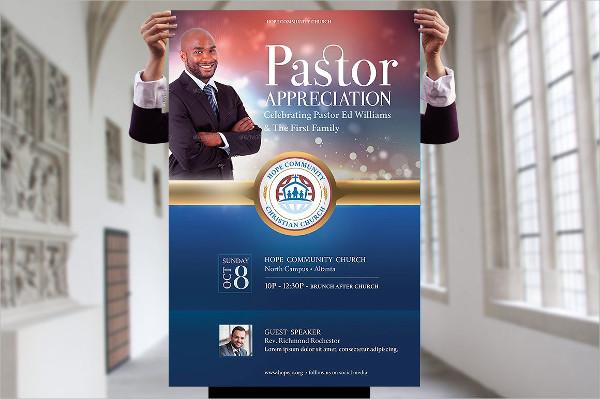 Best Pastor Appreciation Poster Template