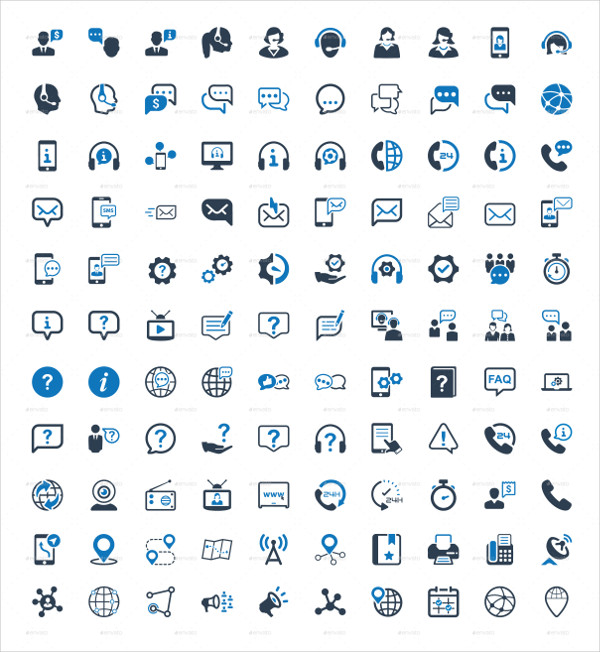 Perfect Contact Us Icons