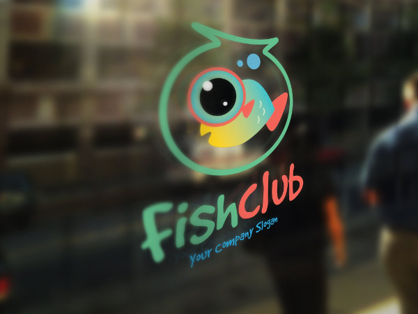 Perfect Fish Club Logo Template