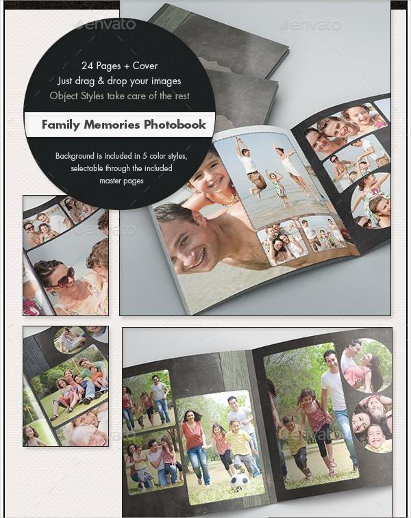 Photobook Family Memories Album Template