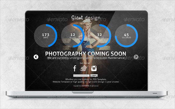 Photography Coming Soon Page Template