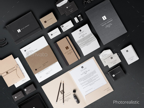 Photorealistic PSD Mockup for Stationery