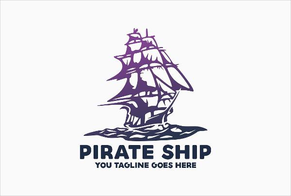 Pirate Ship Logo Template