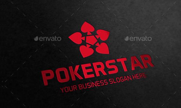 Poker Star Logo Template