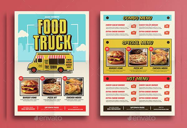 Pop Art Food Truck Flyer Template