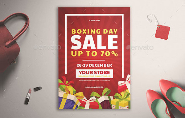 Popular Boxing Day Flyer Template