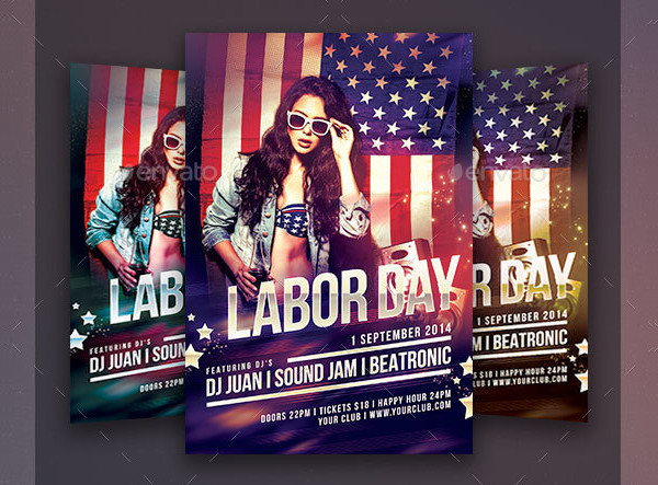 Popular Labor Day Flyer Template