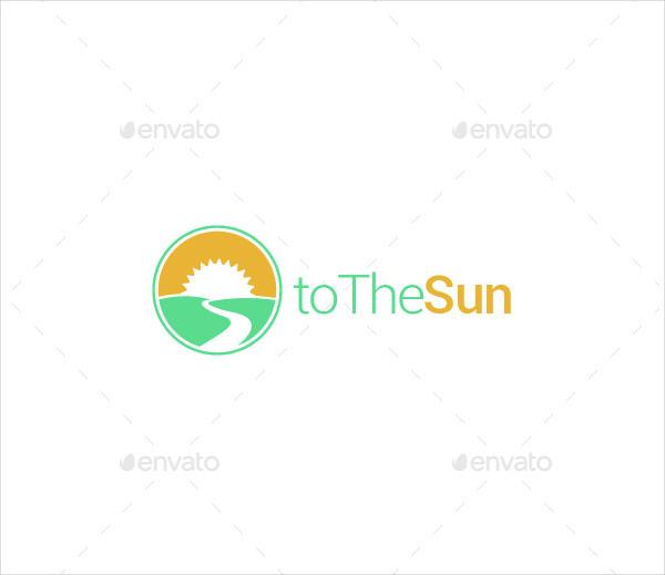 Popular Sun Logo Template
