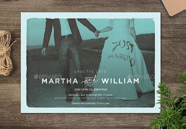 Postcard Wedding Invites