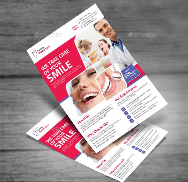 Print Ready Dental Business Flyer Template