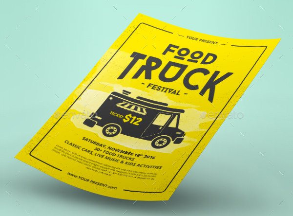 Print Ready Food Truck Event Flyer Template