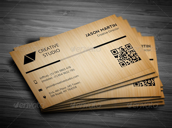 Print Ready Wooden Business Card Template