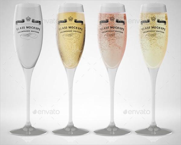Printable Champagne Glass Mockup