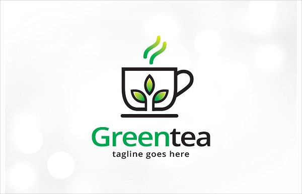 Professional Green Tea Logo Template