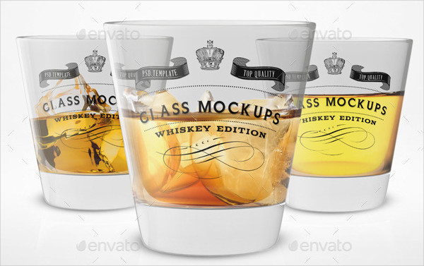 Professional Whiskey Glass Mock-Ups