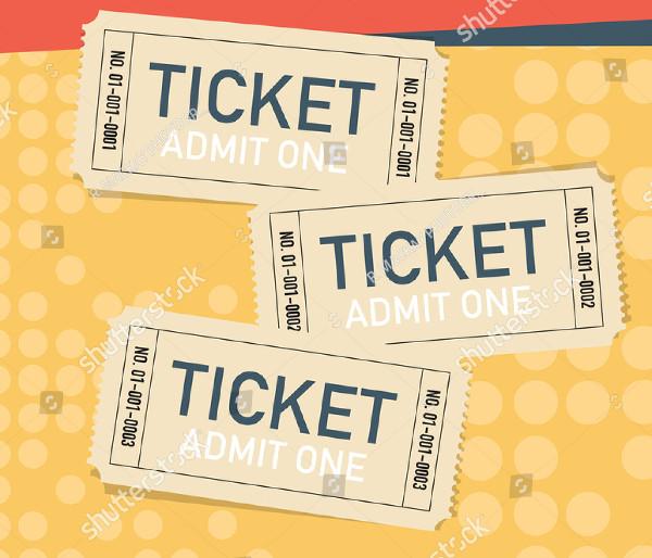 Set of Three Vector Raffle Tickets