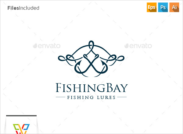 Ready to Print Fishing Lures Logo Template