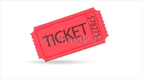 Red Raffle Tickets Vector Illustration