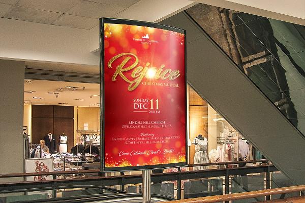 Rejoice Christmas Poster Template