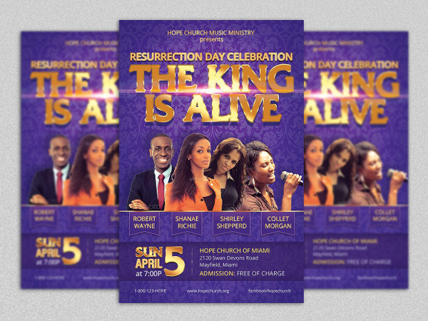 Resurrection Concert Flyer Template