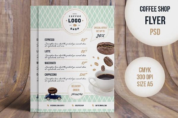 Retro Coffee Flyer PSD