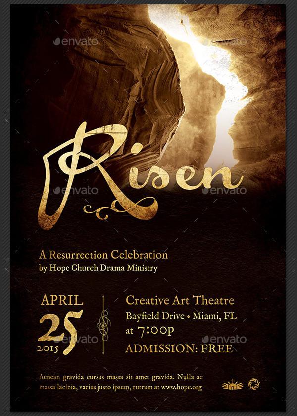 Risen Church Event Poster Template
