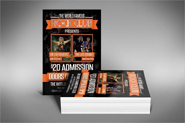 Rock Club Flyer Template