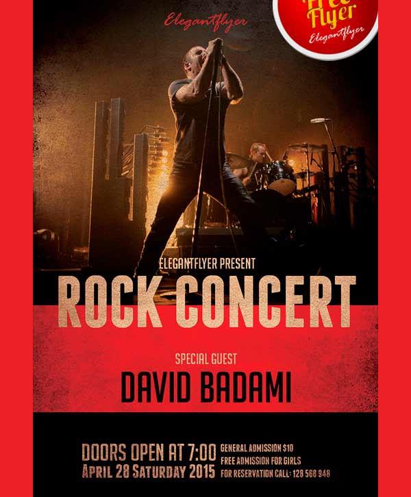 Rock Concert Free Flyer Template