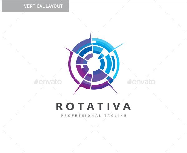 Rotativa Circles Logo Template