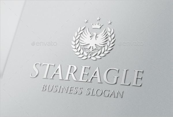 Royal Eagle Star Design Logo Template