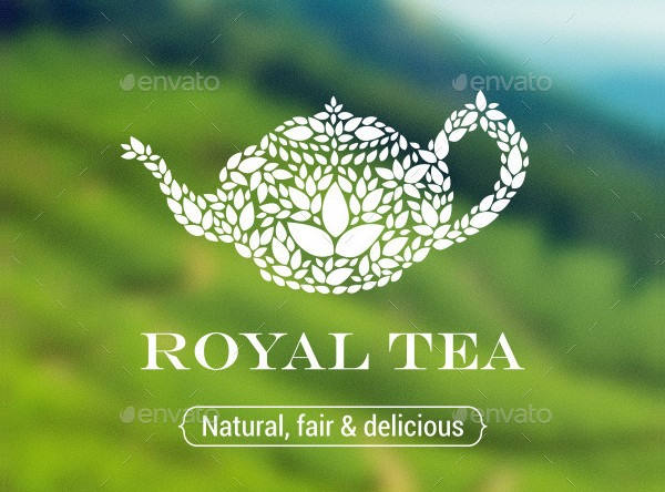 Royal Tea Party Logo Template