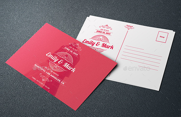 Rustic Wedding Postcards PSD