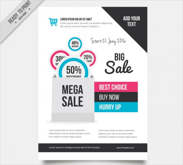 Sale Flyer Template Free Vector