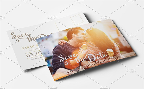 Wedding Post Card Save the Dates