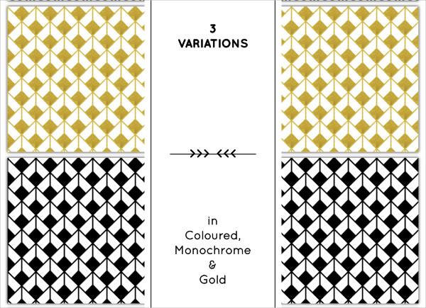 Set of 3 Beautiful Art Deco Patterns