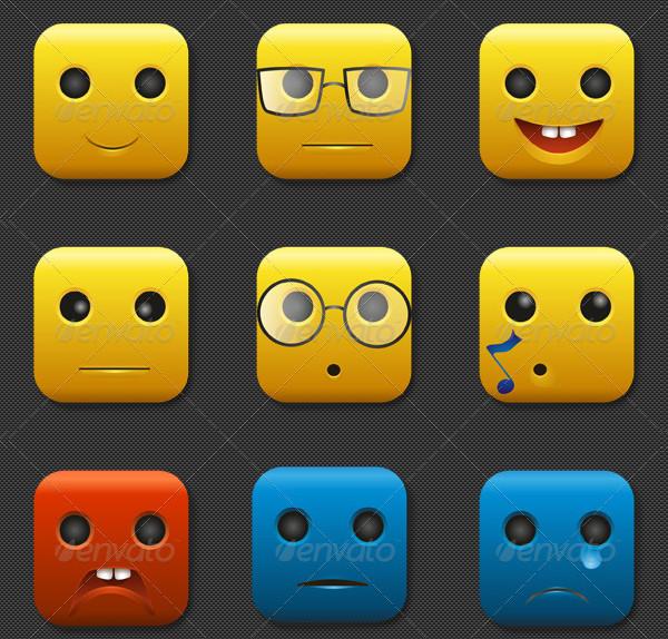 Set of 9 Custom StyledEmoji Icons