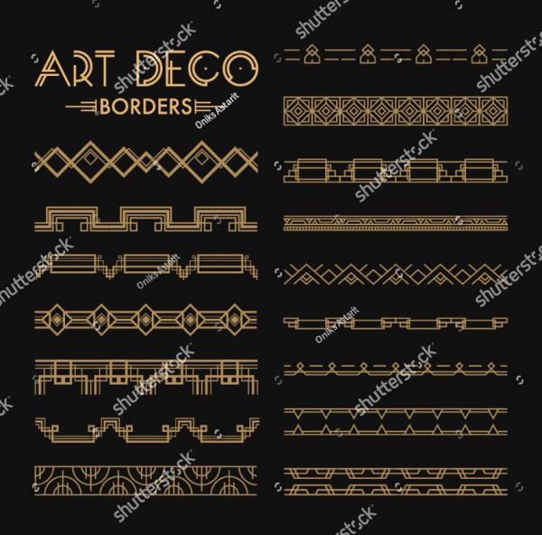Set of Art Deco Patterns and Ornaments