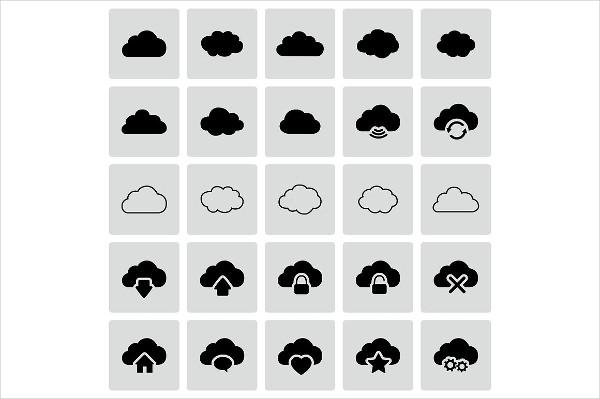 Modern Vector Cloud Icon Collection