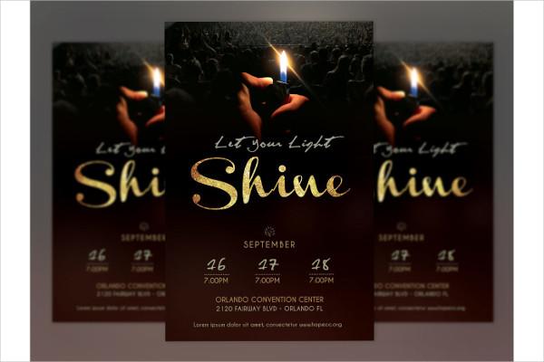 Shine Church Service Poster Template