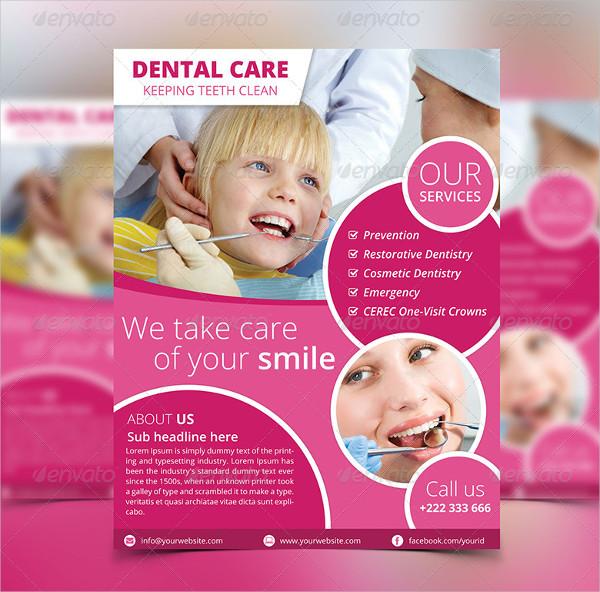 Simple Dental Care Flyer Design