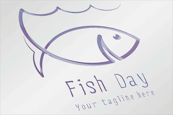 Simple Fish Day Logo Design