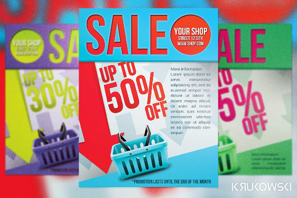 Simple Sale Poster or Flyer Template