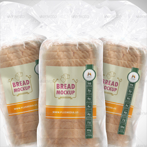Slide Bread Label Mockup