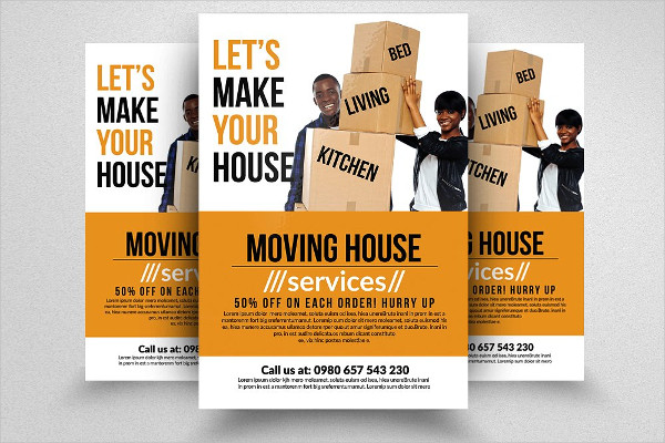 Smart Moving House Services Flyers