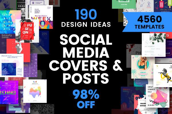 Social Media Cover Post Design Templates