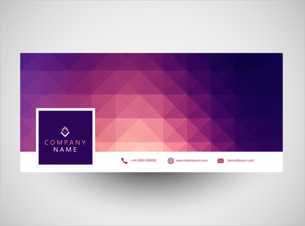 Social Media Cover With Geometric Design Free Vector