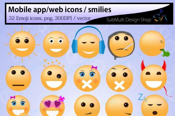 Social Media Emoji Vector Icon SVG