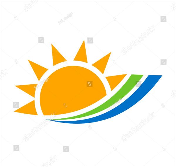 Solar Energy Logo Template