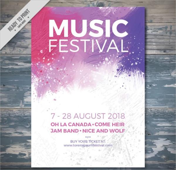 Splashes Music Festival Poster Free Download