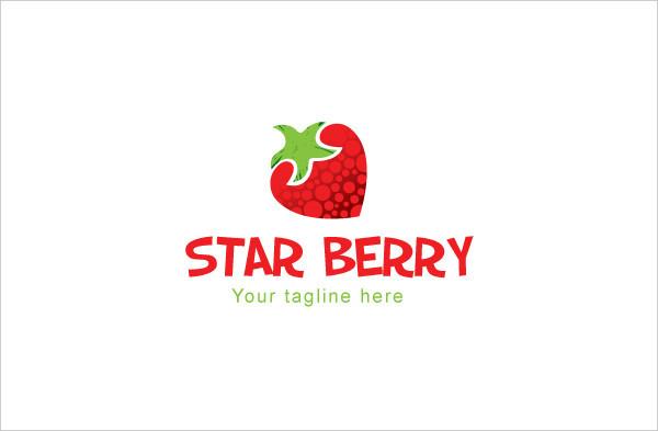 Star Berry Logo Template